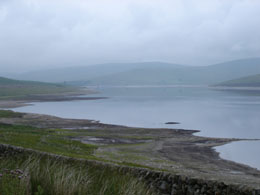 Daer reservoir at low water