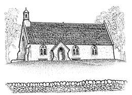 Illustration of Lyne Church