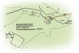 Heritage trail route map for the bastle house