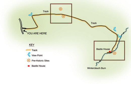 Heritage trail route map