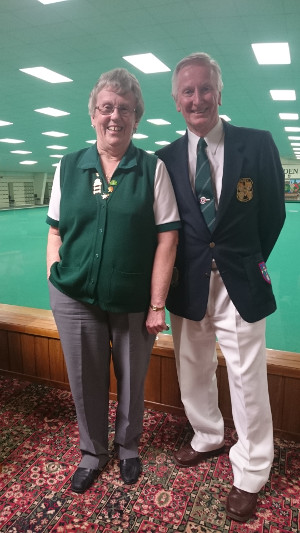 Wealden IBC Club Presidents Jill Saunders and John Harriet